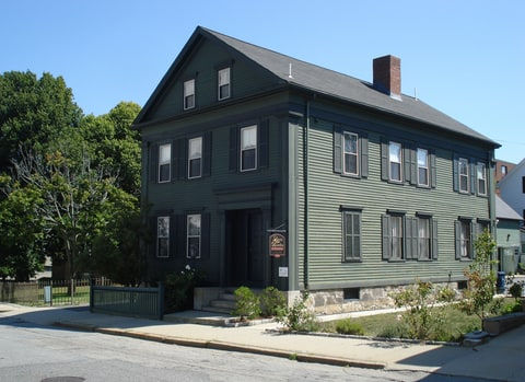 The Borden home on Second Street in Fall River, Massachusetts, where the murders of Lizzie Borden's parents occurred, is now a bed and breakfast.