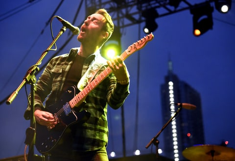 Mike Kinsella of American Football performs during Fun Fun Fun Fest 2015 at Auditorium Shores on November 7, 2015 in Austin, Texas.