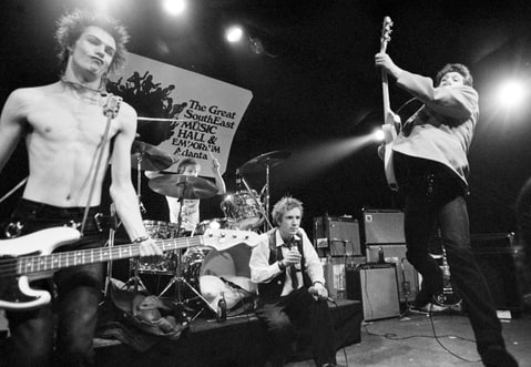 The Sex Pistols, making their U.S. debut in Atlanta, January 1978.