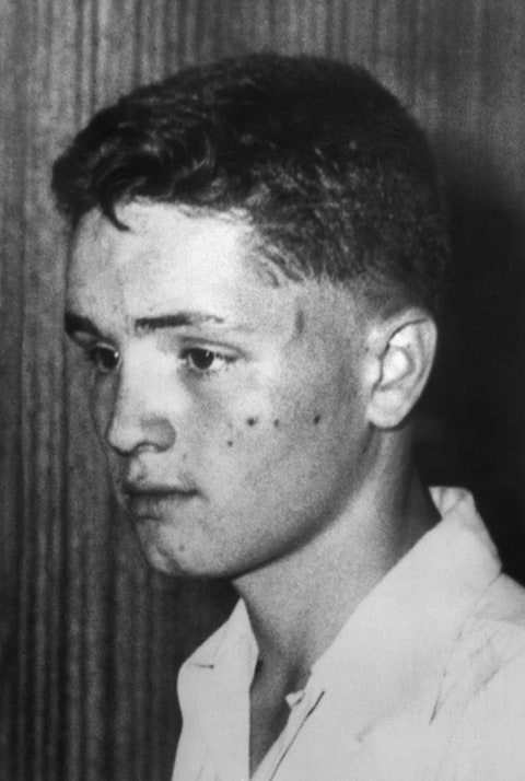 Charles Manson at Fourteen Years Old Charles Manson as an adolescent. He would later become infamous for attempted to foment social chaos by murdering prominent celebrities.
