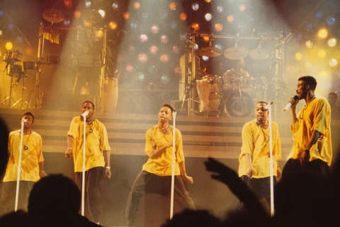 MINNESOTA - 1989:  New Edition performs in Minnesota in 1989.