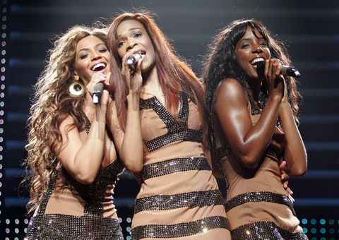 Singers Beyonce Knowles, Michelle Williams and Kelly Rowland of Destiny's Child kick off the European leg of their 'Destiny Fulfilled...and Lovin It' world tour May 15, 2005 at the Oslo Spektrum in Oslo, Norway.