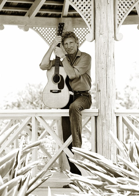 Musician Roger Waters at home in Barbados. Roger Waters was the bassist and primary songwriter for the band Pink Floyd from 1964 to 1985.   Location: St. James, Barbados.