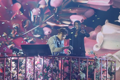 Flume performs Never Be Like You featuring Kai, on stage during the 30th Annual ARIA Awards 2016 at The Star on November 23, 2016 in Sydney, Australia.