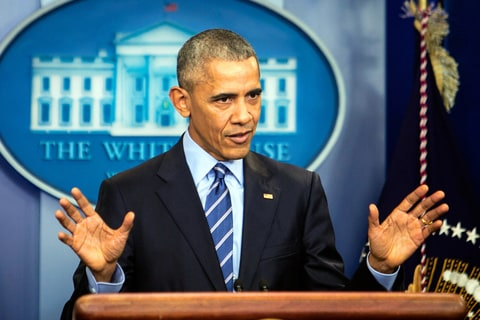 President Barack Obama speaks during a news conference in the Brady Press Briefing Room at the White House December 16, 2016 in Washington, DC. In what could be the last press conference of his presidency, afterwards Obama will be leaving for his annual family vacation in Hawaii.