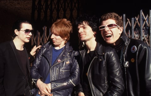 L-R: Dave Vanian, Rat Scabies, Brian James, Captain Sensible