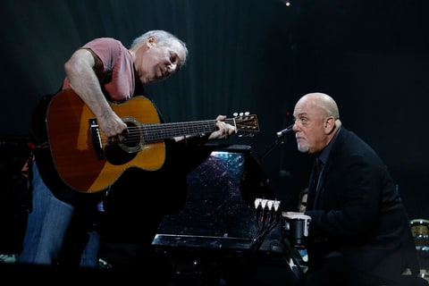 Paul Simon and Billy Joel at Madison Square Garden on September 30, 2017
