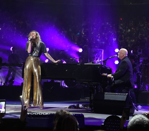 Billy Joel Duets With Miley Cyrus Paul Simon at MSG Show