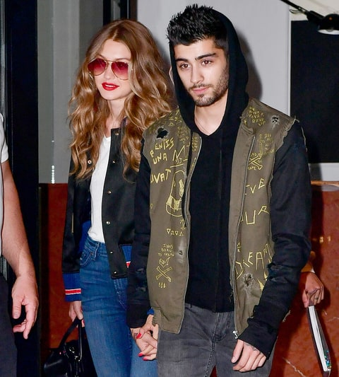 Gigi Hadid and Zayn Malik seen on the streets of Manhattan on July 14, 2016, in New York City.