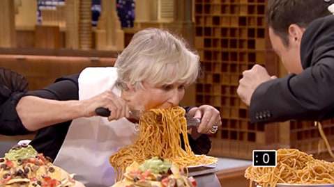 Glenn Close Face Stuffing Contest