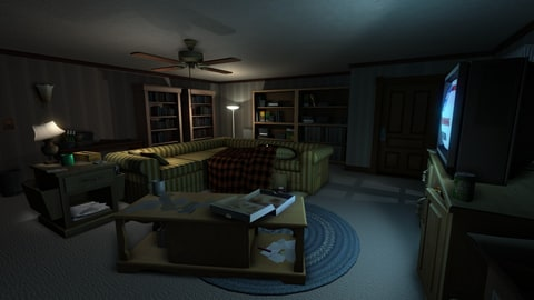A scene from Gone Home