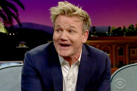 Gordon Ramsay on the 'Late Late Show'