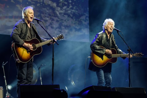 Graham Nash (right) performs as part of the Stand With Standing Rock charity concert at DAR Constitution Hall in Washington, D.C.
