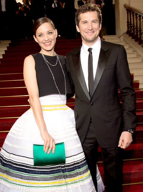 Marion Cotillard and Guillaume Canet arrive at the 40th Cesar Film Awards 2015 Cocktail at Theatre du Chatelet on February 20, 2015 in Paris, France.