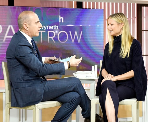 Matt Lauer and Gwenyth Paltrow appear on the