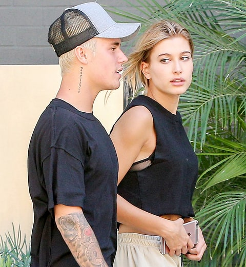 Justin Bieber and Hailey Baldwin in October 2015.