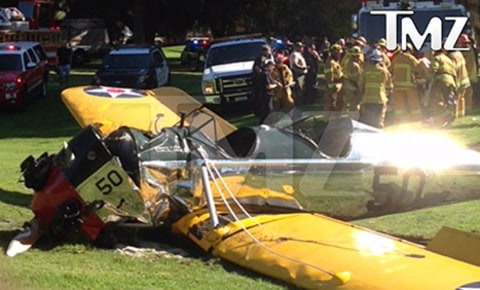 harrison ford crash