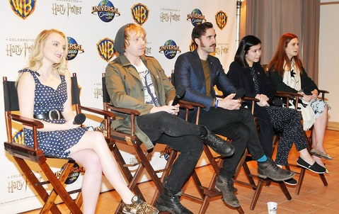 Evanna Lynch, Rupert Grint, Matthew Lewis, Katie Leung and Bonnie Wright