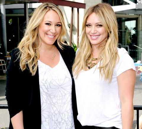 Haylie Duff  and Hilary Duff visit