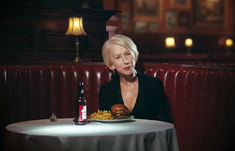 Helen Mirren in a Budweiser commercial