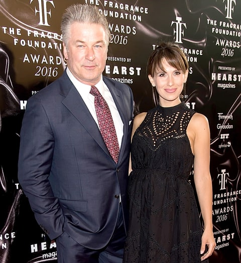 Alec and Hilaria Baldwin attend 2016 Fragrance Foundation Awards at Alice Tully Hall at Lincoln Center on June 7, 2016, in New York City.