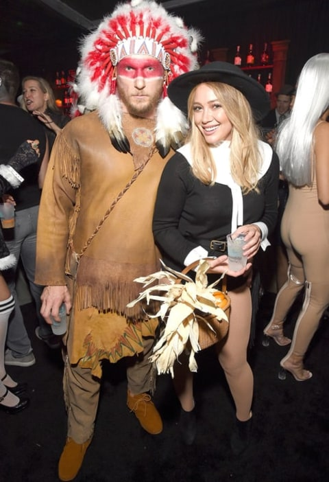 hilary duffy in the halloween costume with her boyfriend which sparked an outrage on social media,she then apologised