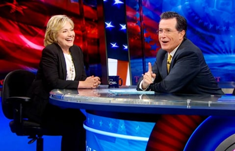 hillary clinton on colbert