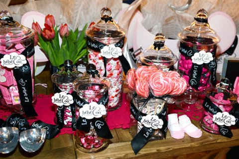 Holly Madison Baby Shower - candy table