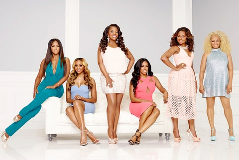 Kenya Moore, Cynthia Bailey, Kandi Burruss, Porsha Williams, Phaedra Parks Nida and Kim Fields of 'The Real Housewives of Atlanta.'