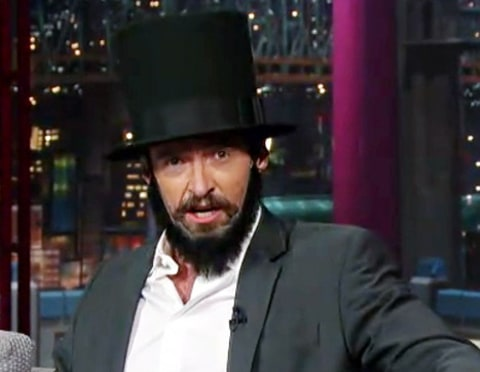 hugh jackman as lincoln on letterman