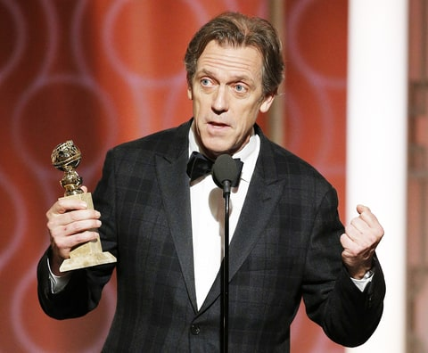 Hugh Laurie accepts the award for Best Supporting Actor in a Series/Limited Series/TV Movie for his role in