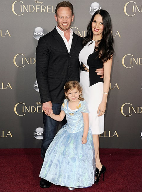 ian ziering with wife and kid