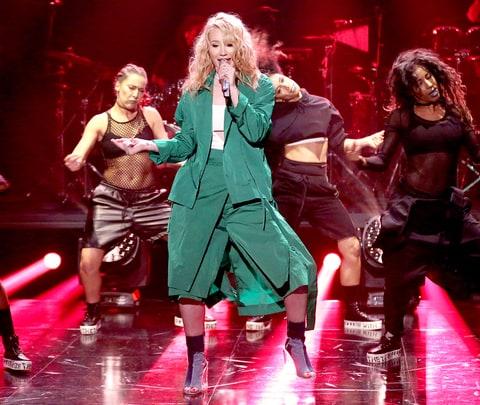 Iggy Azalea performs on The Tonight Show Starring Jimmy Fallon on March 22, 2016.
