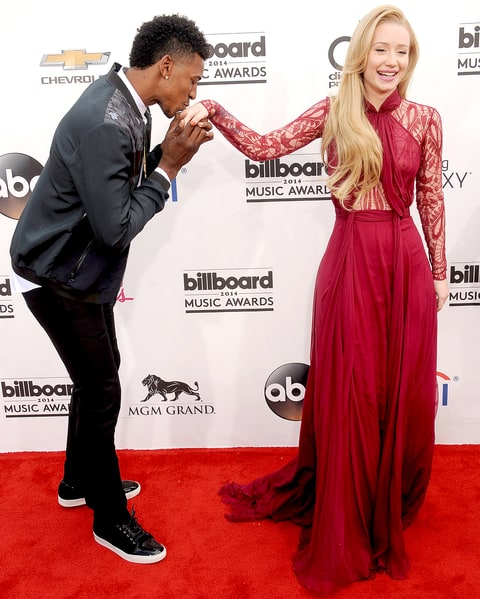 Nick Young and Iggy Azalea arrive at the 2014 Billboard Music Awards.