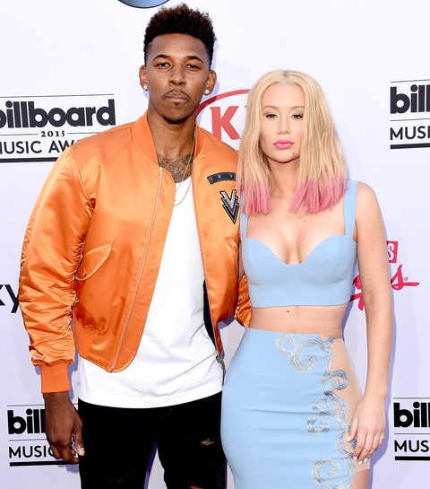 Nick Young and Iggy Azalea attend the 2015 Billboard Music Awards.