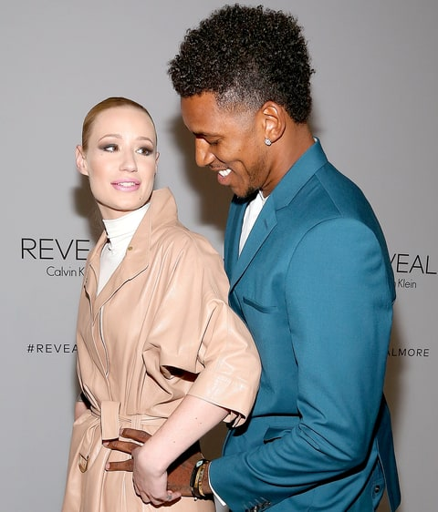 Iggy Azalea and Nick Young attend the Reveal Calvin Klein fragrance launch party at 4 World Trade Center on September 8, 2014, in New York City.
