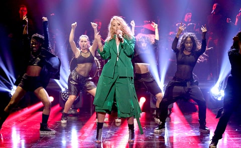 Iggy Azalea performs on The Tonight Show Starring Jimmy Fallon on March 22, 2016