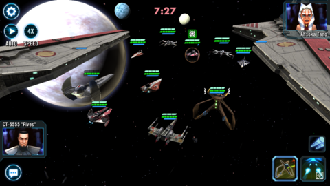 Star Wars Galaxy of Heroes ship combat