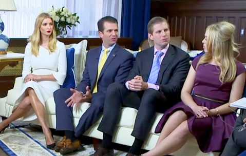 Ivanka Trump, Donald Trump Jr., Eric Trump and Tiffany Trump