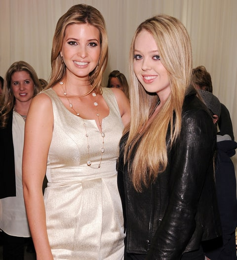 Ivanka Trump and Tiffany Trump attend the launch of Ivanka's Spring ...