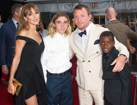 Jacqui Ainsley, Rocco Ritchie, Guy Ritchie and David Ciccone Ritchie