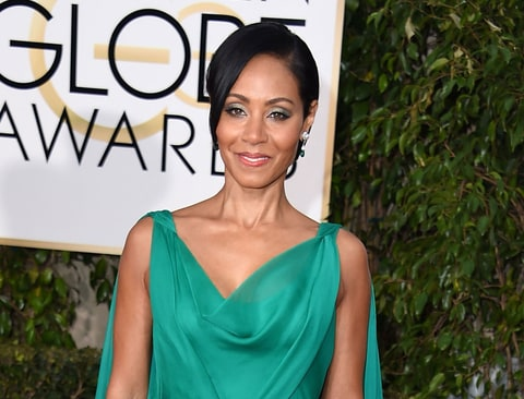 Jada Pinkett Smith arrives at the 73rd Annual Golden Globe Awards on January 10