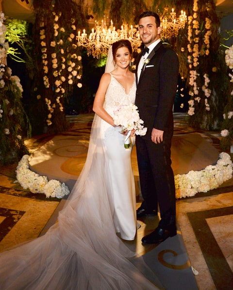Jade roper and tanner tolbert tie the knot matt petit abc via getty