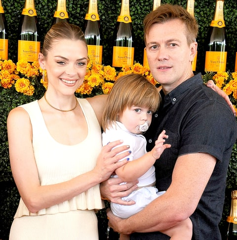 Jaime King, husband Kyle Newman and son James Knight Newman arrive at the Sixth-Annual Veuve Clicquot Polo Classic, Los Angeles at Will Rogers State Historic Park on October 17.