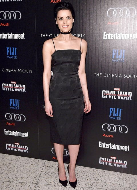 Jaimie Alexander attends the Cinema Society with Audi and FIJI Water host a screening of Marvel's