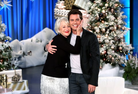 James Marsden meets his longtime celebrity crush and puckers up