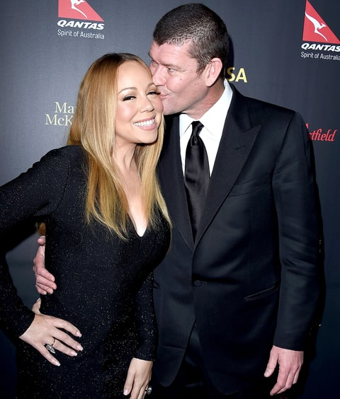 James Packer and Mariah Carey arrives at the 2016 G'Day Los Angeles Gala at Vibiana on January 28, 2016 in Los Angeles, California.