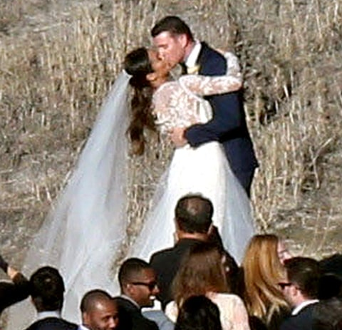 Two stunning dress at her wedding to bryan greenberg see the photos
