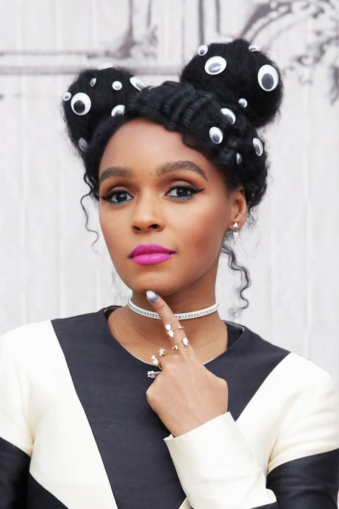 Janelle Monae Wears Googly Eyes In Hair Video Us Weekly