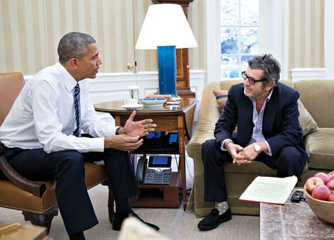 "Wenner visits with the president in the Oval Office the day after the election. ""Aside from any particular issue, the president needs to recognize that this is not about you,"" Obama says of Trump. ""This is about this precious thing that we've inherited and that we want to pass on."""